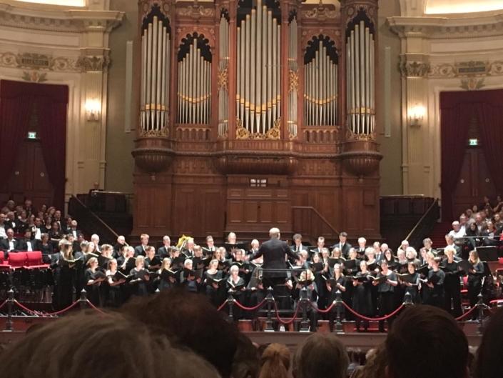 Foto van uitvoering in Concertgebouw