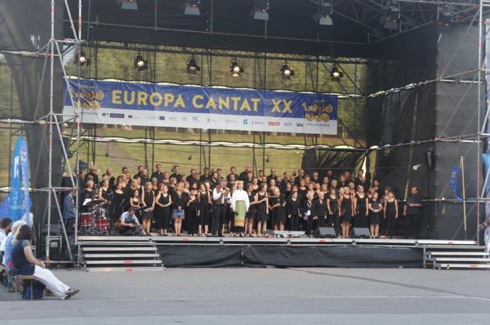 Foto van optreden bij Europa Cantat 2018