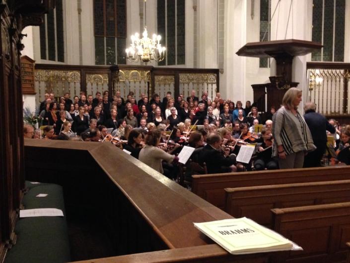 Foto van repetitie Brahms Requiem in de Jacobikerk