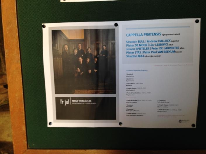 Concertaankondiging Cappella Pratensis