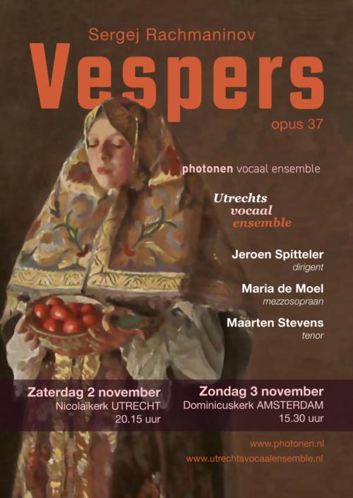 Flyer Vespers van Rachmaninov